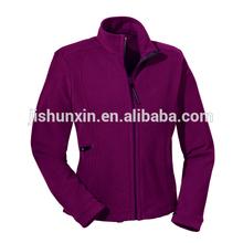 Hot selling purple women thin fleece jacket