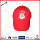 "Best quality same color 100% cotton ""LIVEPOOL""club football fan with eyelet and top button cap"