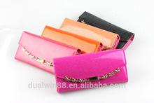 2014high quality pu wallet shiny lady wallet lady bag