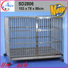 warm dog house stainless dog cage