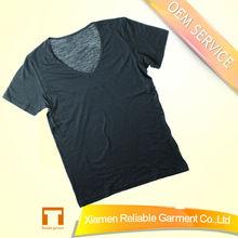 65%cotton/35%Spandex eco-friendly material mens deep v neck t shirt for men
