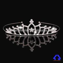 Silver Plated Crystal Rhinestone Bridal Tiara Hair Band