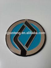 Embossed Aluminum custom metal logo trademark stickers