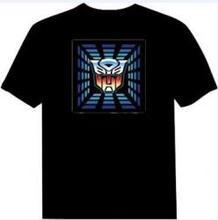 led t shirts custom,sound led clothes