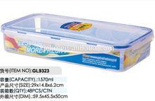 1570ml plastic lunch box with four side locks GL9323