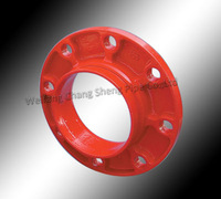 FM UL Approved Ductile Iron Grooved Fitting Flange Threaded