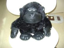 30cm promotional customized stuffed black plush King Kong gorilla forest animal toy