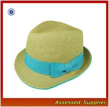 AL449/ black fedora hat/ high quality custom fedora hat