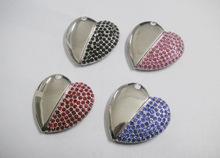 2014 diamond heart usb usb flash,custom free logo heart shape usb memory sticks 2GB