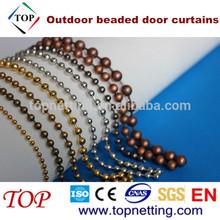 Bronze/Copper outdoor beaded door curtains