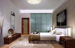 Oak Rubber Wood veneer Bedroom Furniture For Hotel