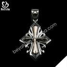 Vintage cross shape shiny unique pendant bezel wholesale