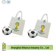 Soccer Football Shaped Pouch Folding Shopping Bag for World Cup or Club Promotion
