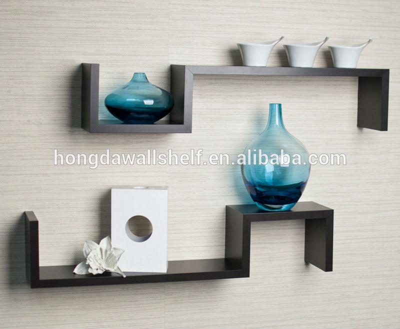 moderne muur opknoping decoratie tv wandplank-weer te geven rekken ...