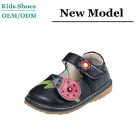 Hot design infant toddlers black leather walking shoes girls mary jane school shoes