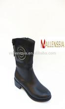 2014 Fashion Design Ladies Flat Heel PU Upper Short Boots for Autumn