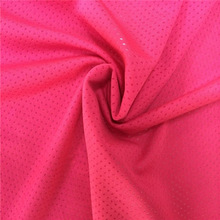 Hot sale knitted fabric elastic mesh fabric polyester mesh with spandex sport Fabric