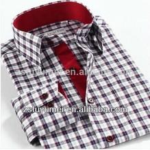 men's check pattern shirt high quality 100% cotton new design man shirt of long sleeve
