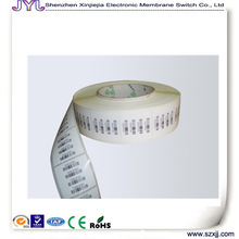 Label stickers in PET / PC / PVC material