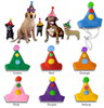 2015 new hot sale trendy ornament wholesale fabric gift handmade craft felt plush dog decoration Christmas cap hat made in China