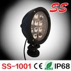 "7"" 60 watt LED Work Light Lamp Off Road High Power ATV Jeep 4x4 Tractor Round 9 Degree Round Spot Light,ss-1001"