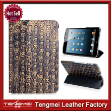 For ipad mini case with stand luxury skull case for ipad mini