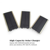 dual USB portable solar charger 8000mAh for mobiles by China manufacturer