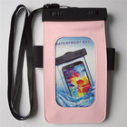 Hot selling Pvc Phone Waterproof Case For Samsung Galaxy S4 Mini PINK for swimming