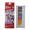 High quality 12ml*12tubes Artists Acrylic Paint Colour Set