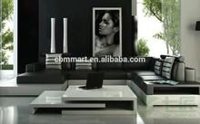 black heated leather sofa