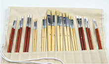 canvas holder 24pc synthetic bristle oil painting brush set