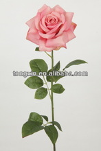 indoor decoration artificial flower fit on LED silk flower rose manufactory