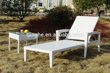 Beach folding sun lounger & poly rattan lounge