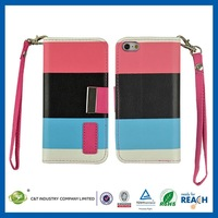 New protective CASE luxury pu leather flip cover for iphone5c