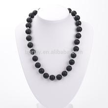 Silicone Black Necklace Black Bead Necklace