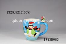 snowman gift christmas ceramic coffee mug,hand made ceramic mugs