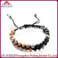 2014 hot sell New fashion gemstone beaded shamballa bracelets wholesale
