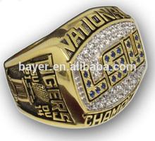 Hot Selling top quality fashion jewelry LSU basketball championship ring ncaa championship ring