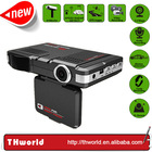 2014 new product multi-function car speed radar detector 3-in-one with car dvr and gps logg