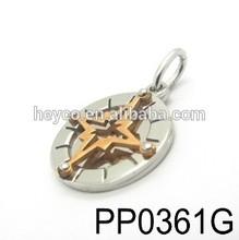 Heyco 316l stainless steel mandala pendant