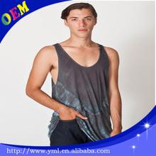 Custom 100% polyester jersey tank top for men bulk