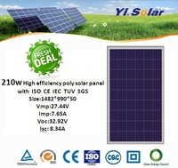 high efficiency and bect price 210w polycrystalline photovoltaic modules with CE IEC ISO TUV CEC