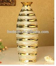 plated porcelain gold vase