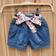 C81358A Girls' with belt fashion shorts