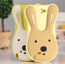 3D Cute Skin Luxury Soft Silicone Bunny Sugar Rabbit Case For Samsung Galaxy note2 N7100 note3 N9000