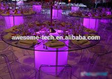 lighting acrylic cube table