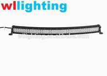 WLLIGHTING Factory 50'' 288W Curved Led Light Bar 10-30V Waterproof Led Light Bar White/Black Spot/ Flood for Jeep SUV ATV
