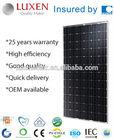 200W Mono Solar Panel TUV CE CEC certified ALL BLACK Solar Module