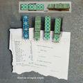 différents tons de vert paper clip vêtements cheville avec aimant fournisseur de la chine