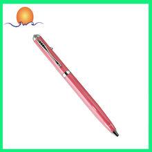 2014 Hot Sale Pink Metal Gift Pen Logo